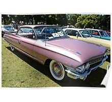 Cadillac 1961 Coup deville Poster