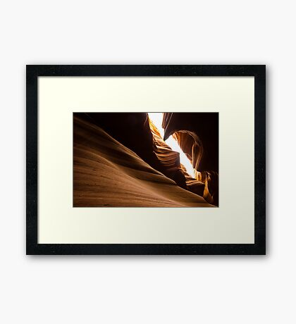 Unique Rock formation - Antelope canyon Framed Print