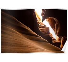 Unique Rock formation - Antelope canyon Poster