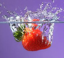 Strawberry splash by Martin Attfield