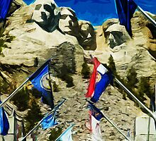 Mount Rushmore Hall of States Abstract Impressionism by pjwuebker