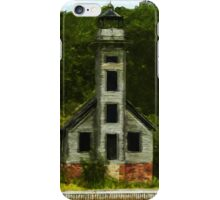 Michigan Lighthouse Abstract Impressionism iPhone Case/Skin