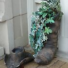Cowboy Boot Planter Georgetown Texas by Jackie Wilson