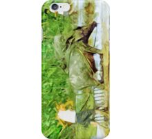 Preparing Rice Fields With Oxen Abstract Impressionism iPhone Case/Skin