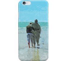 Lovers Walk on the Beach Abstract Impressionism iPhone Case/Skin