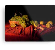 Grape,lemons and nuts Metal Print