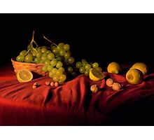 Grape,lemons and nuts Photographic Print