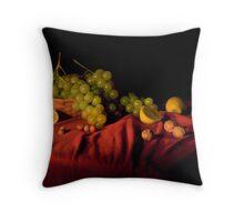 Grape,lemons and nuts Throw Pillow