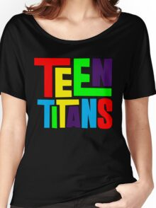 Teen Titans Multicolor Women's Relaxed Fit T-Shirt