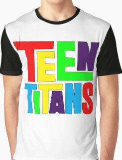 Teen Titans Multicolor Graphic T-Shirt