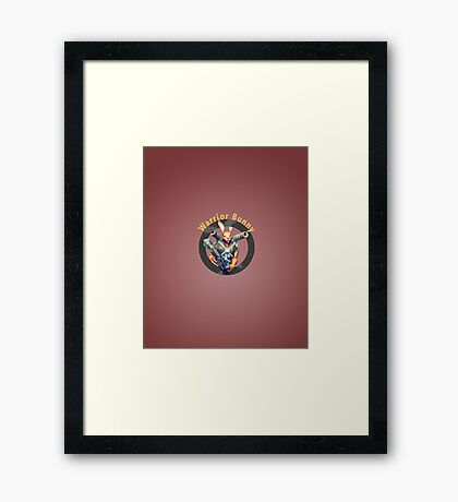 Warrior Bunny Nukem Framed Print