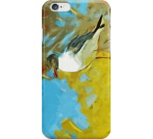 Laughing Gull on Pier Abstract Impressionism iPhone Case/Skin