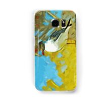 Laughing Gull on Pier Abstract Impressionism Samsung Galaxy Case/Skin