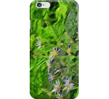 Large Leaved Purple Aster Among Burnt Trees Abstract Impressionism iPhone Case/Skin
