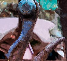 Large Hook Abstract Impressionism by pjwuebker