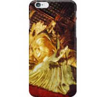 Large Gold Statue Kyoto Japan Abstract Impressionism iPhone Case/Skin
