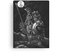 Lost comrades under the moon Canvas Print