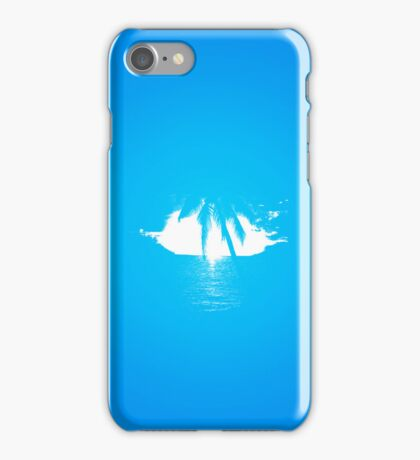 Palm Tree View - white iPhone Case/Skin
