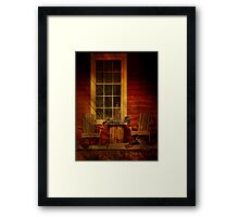 Sit a Spell in Napanoch Framed Print