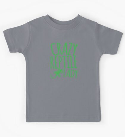 CRAZY REPTILE LADY Kids Tee