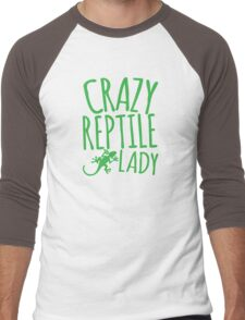 CRAZY REPTILE LADY Men's Baseball ¾ T-Shirt