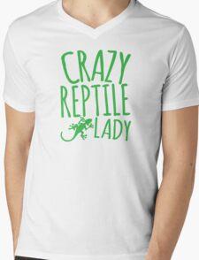 CRAZY REPTILE LADY Mens V-Neck T-Shirt