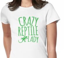 CRAZY REPTILE LADY Womens Fitted T-Shirt