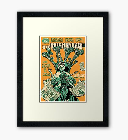 Vintage Poster - The Reichenbach Fall Framed Print