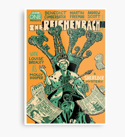 Vintage Poster - The Reichenbach Fall Metal Print