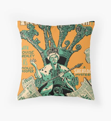 Vintage Poster - The Reichenbach Fall Throw Pillow