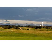 Golfers view of Covesea Lighthouse. Photographic Print