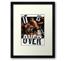 UFC - IT IS ALL OVER - Alistair Overeem vs Bigfoot Silva - Mike Goldberg Framed Print