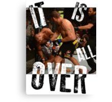 UFC - IT IS ALL OVER - Alistair Overeem vs Bigfoot Silva - Mike Goldberg Canvas Print