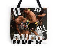 UFC - IT IS ALL OVER - Alistair Overeem vs Bigfoot Silva - Mike Goldberg Tote Bag