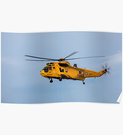 RAF Search and Rescue Helicopter Poster