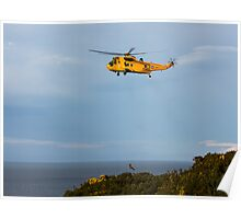 RAF Search and Rescue Helicopter V3 Poster
