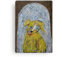 The Happiest Dog in the World Canvas Print