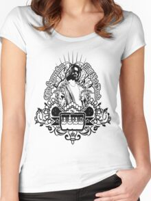 """""""The Dude"""" Women's Fitted Scoop T-Shirt"""