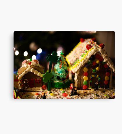 Christmas Gingerbread house  Canvas Print