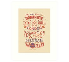 The London Dinner Table - Oscar Wilde quote Art Print
