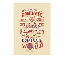 The London Dinner Table - Oscar Wilde quote Photographic Print