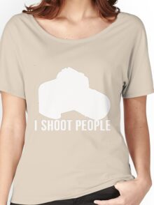 I shoot people photographer Women's Relaxed Fit T-Shirt