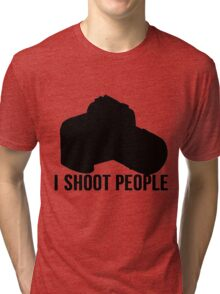 I shoot people photographer Tri-blend T-Shirt