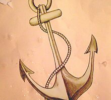 Sketched anchor and rope by AstroNance