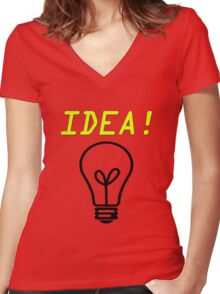 idea Women's Fitted V-Neck T-Shirt