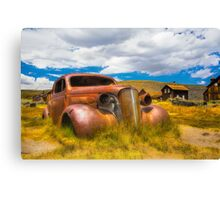 Abandoned Car Chevy in Bodie Ghost Town Canvas Print