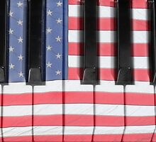 Patriotic Piano keyboard Octave by Bo Insogna