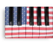 Patriotic Piano keyboard Octave Canvas Print