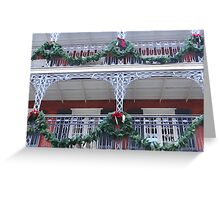New Orleans French Quarter Balcony Christmas Greeting Card
