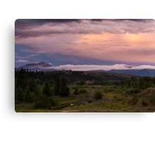 Jackson Peak Under Stormy Sky Canvas Print